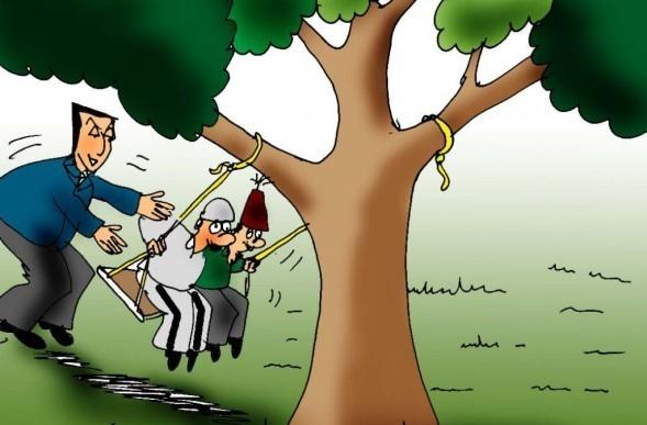 karikatura-Milo-ljuljaska